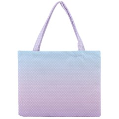 Simple Circle Dot Purple Blue Mini Tote Bag by Alisyart