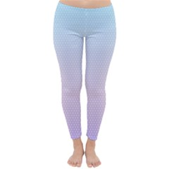 Simple Circle Dot Purple Blue Classic Winter Leggings