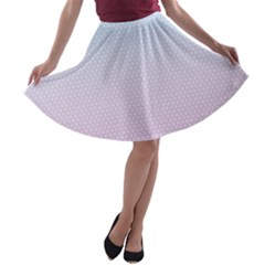 Simple Circle Dot Purple Blue A Line Skater Skirt by Alisyart