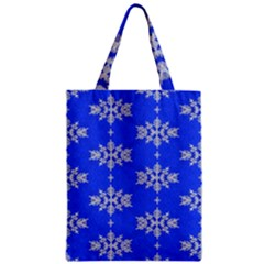 Background For Scrapbooking Or Other Snowflakes Patterns Zipper Classic Tote Bag by Nexatart