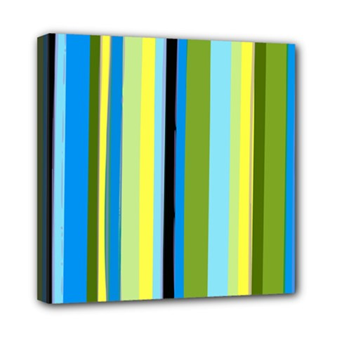 Simple Lines Rainbow Color Blue Green Yellow Black Mini Canvas 8  X 8  by Alisyart