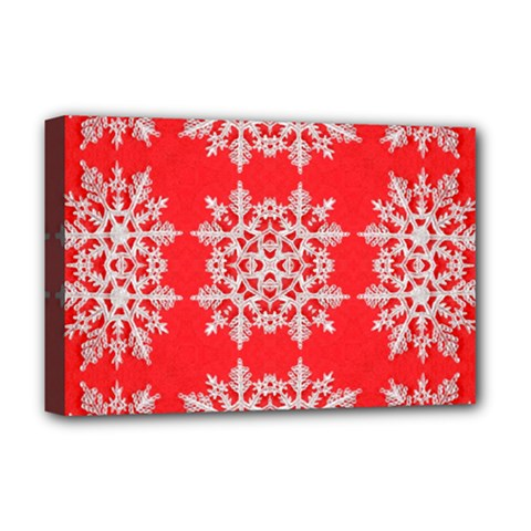 Background For Scrapbooking Or Other Stylized Snowflakes Deluxe Canvas 18  X 12   by Nexatart