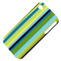 Simple Lines Rainbow Color Blue Green Yellow Black Apple iPhone 4/4S Hardshell Case (PC+Silicone) View4
