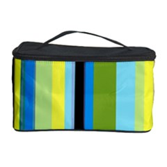 Simple Lines Rainbow Color Blue Green Yellow Black Cosmetic Storage Case