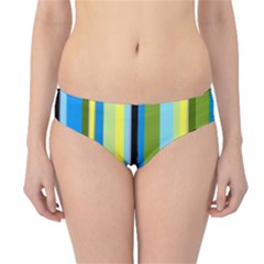 Simple Lines Rainbow Color Blue Green Yellow Black Hipster Bikini Bottoms by Alisyart