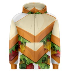 Sandwich Breat Chees Men s Zipper Hoodie