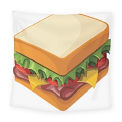 Sandwich Breat Chees Square Tapestry (large)