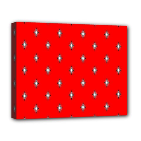Simple Red Star Light Flower Floral Deluxe Canvas 20  X 16   by Alisyart