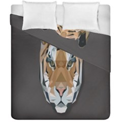 Tiger Face Animals Wild Duvet Cover Double Side (california King Size)