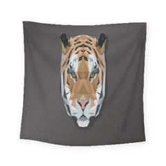 Tiger Face Animals Wild Square Tapestry (small)