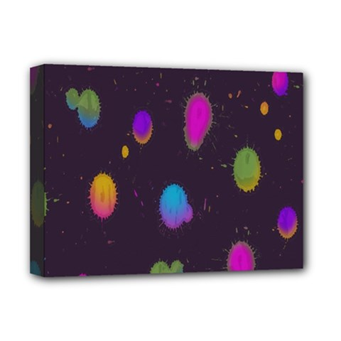 Spots Bright Rainbow Color Deluxe Canvas 16  X 12   by Alisyart