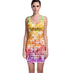 Spots Paint Color Green Yellow Pink Purple Sleeveless Bodycon Dress by Alisyart