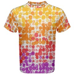 Spots Paint Color Green Yellow Pink Purple Men s Cotton Tee by Alisyart