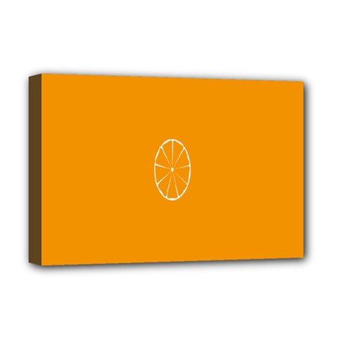 Lime Orange Fruit Fres Deluxe Canvas 18  X 12   by Alisyart
