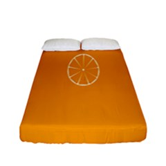 Lime Orange Fruit Fres Fitted Sheet (full/ Double Size)