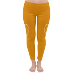 Lime Orange Fruit Fres Classic Winter Leggings