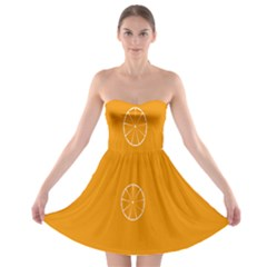 Lime Orange Fruit Fres Strapless Bra Top Dress