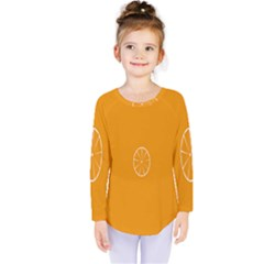 Lime Orange Fruit Fres Kids  Long Sleeve Tee