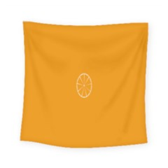Lime Orange Fruit Fres Square Tapestry (small)