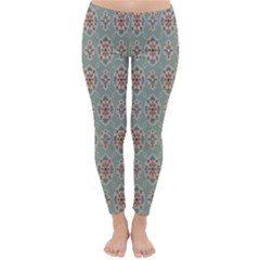 Vintage Floral Tumblr Quotes Classic Winter Leggings