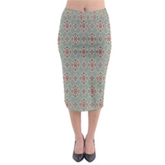 Vintage Floral Tumblr Quotes Midi Pencil Skirt by Alisyart