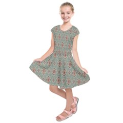 Vintage Floral Tumblr Quotes Kids  Short Sleeve Dress