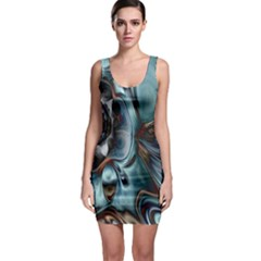Light Color Floral Grey Sleeveless Bodycon Dress by Alisyart