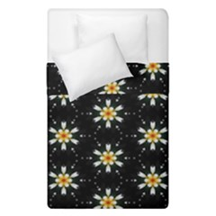 Background For Scrapbooking Or Other With Flower Patterns Duvet Cover Double Side (single Size) by Nexatart