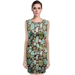 Leaf Camo Color Flower Floral Classic Sleeveless Midi Dress