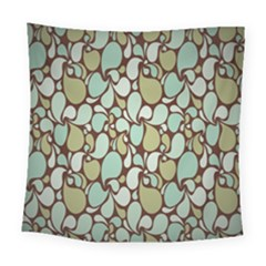 Leaf Camo Color Flower Floral Square Tapestry (large)