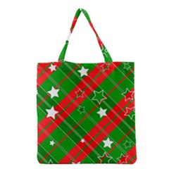 Background Abstract Christmas Grocery Tote Bag by Nexatart