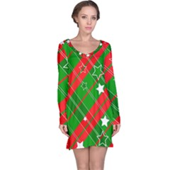 Background Abstract Christmas Long Sleeve Nightdress by Nexatart