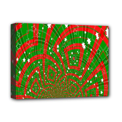Background Abstract Christmas Pattern Deluxe Canvas 16  X 12   by Nexatart