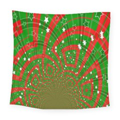 Background Abstract Christmas Pattern Square Tapestry (large)