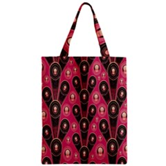 Background Abstract Pattern Zipper Classic Tote Bag by Nexatart