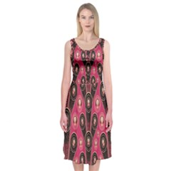 Background Abstract Pattern Midi Sleeveless Dress