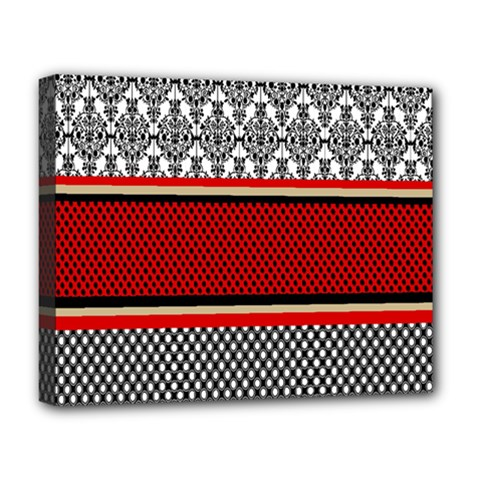 Background Damask Red Black Deluxe Canvas 20  X 16   by Nexatart