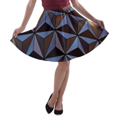 Background Geometric Shapes A Line Skater Skirt