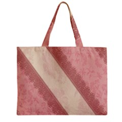 Background Pink Great Floral Design Zipper Mini Tote Bag by Nexatart