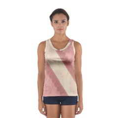 Background Pink Great Floral Design Women s Sport Tank Top