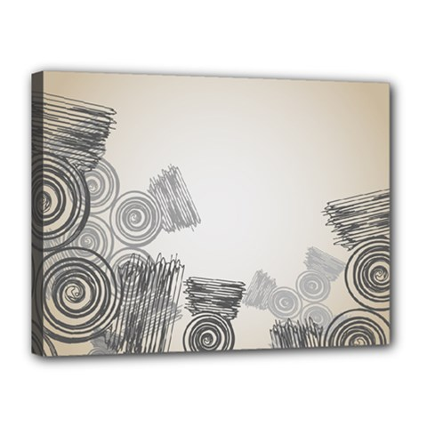 Background Retro Abstract Pattern Canvas 16  X 12