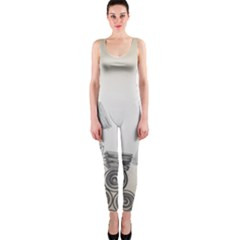 Background Retro Abstract Pattern Onepiece Catsuit by Nexatart