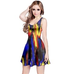 Banner Header Plasma Fractal Reversible Sleeveless Dress by Nexatart