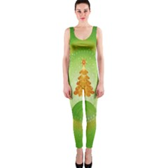 Beautiful Christmas Tree Design Onepiece Catsuit by Nexatart