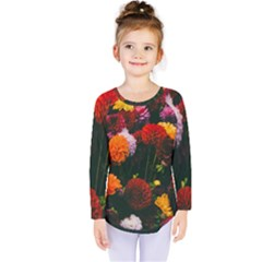 Beautifull Flowers Kids  Long Sleeve Tee by Nexatart