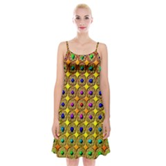 Background Tile Kaleidoscope Spaghetti Strap Velvet Dress