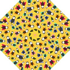Bees Animal Pattern Golf Umbrellas by Nexatart