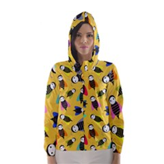 Bees Animal Pattern Hooded Wind Breaker (women)