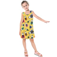 Bees Animal Pattern Kids  Sleeveless Dress by Nexatart