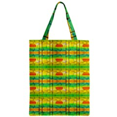 Birds Beach Sun Abstract Pattern Zipper Classic Tote Bag by Nexatart
